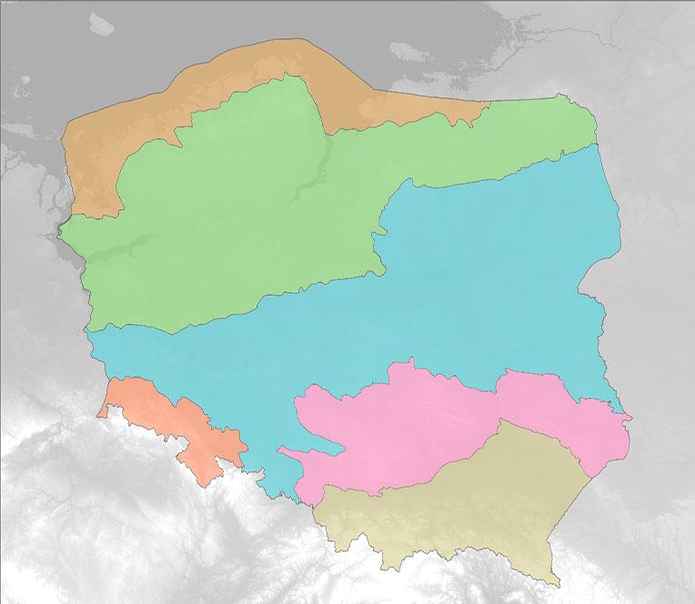 Mapa krain geograficznych